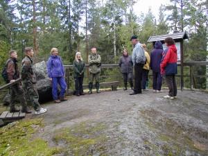 Opastusta georetkellä. Kuva J. Väätäinen, GTK.