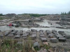 Palin Granit Oy:n Mäntsälän louhimo. Lähde: finstone.fi.