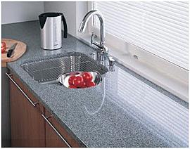 Graniittiset keittiötasot ovat kestäviä ja hygieenisiä.  Kuva: Ylämaan Graniitti Oy.