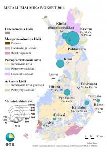 Malminlouhinta Suomen metallimalmikaivoksissa vuonna 2014.