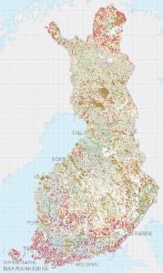 Suomen maaperän yksiköihin voi tutustua Geologian tutkimuskeskuksen Maankamara-palvelussa (klikkaa kuvaa).